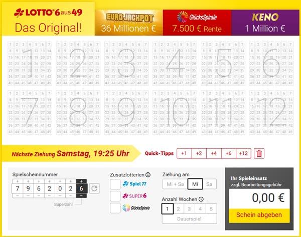 Online Lotto Spielen Erfahrung